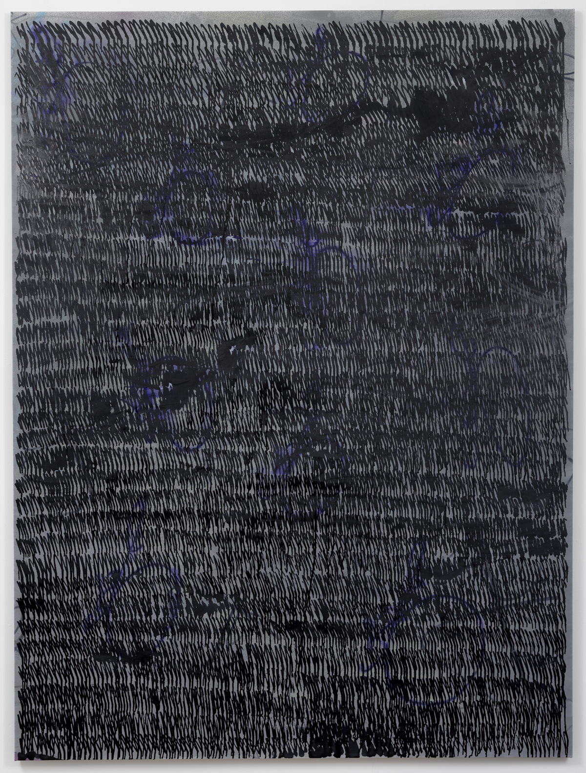 Ziggy Grudzinskas, The Void, 2015, acrylic, ink & spray paint on polyester, 200 x 150 cm
