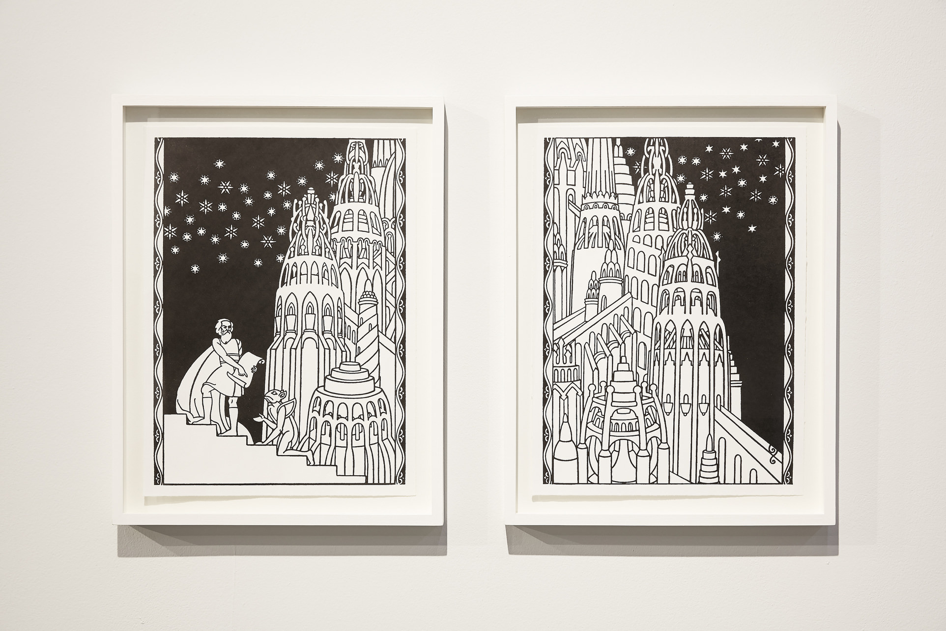 Sean Lynch, Adventure Capital, 2015, lithograph print, framed, 49×38 cm each