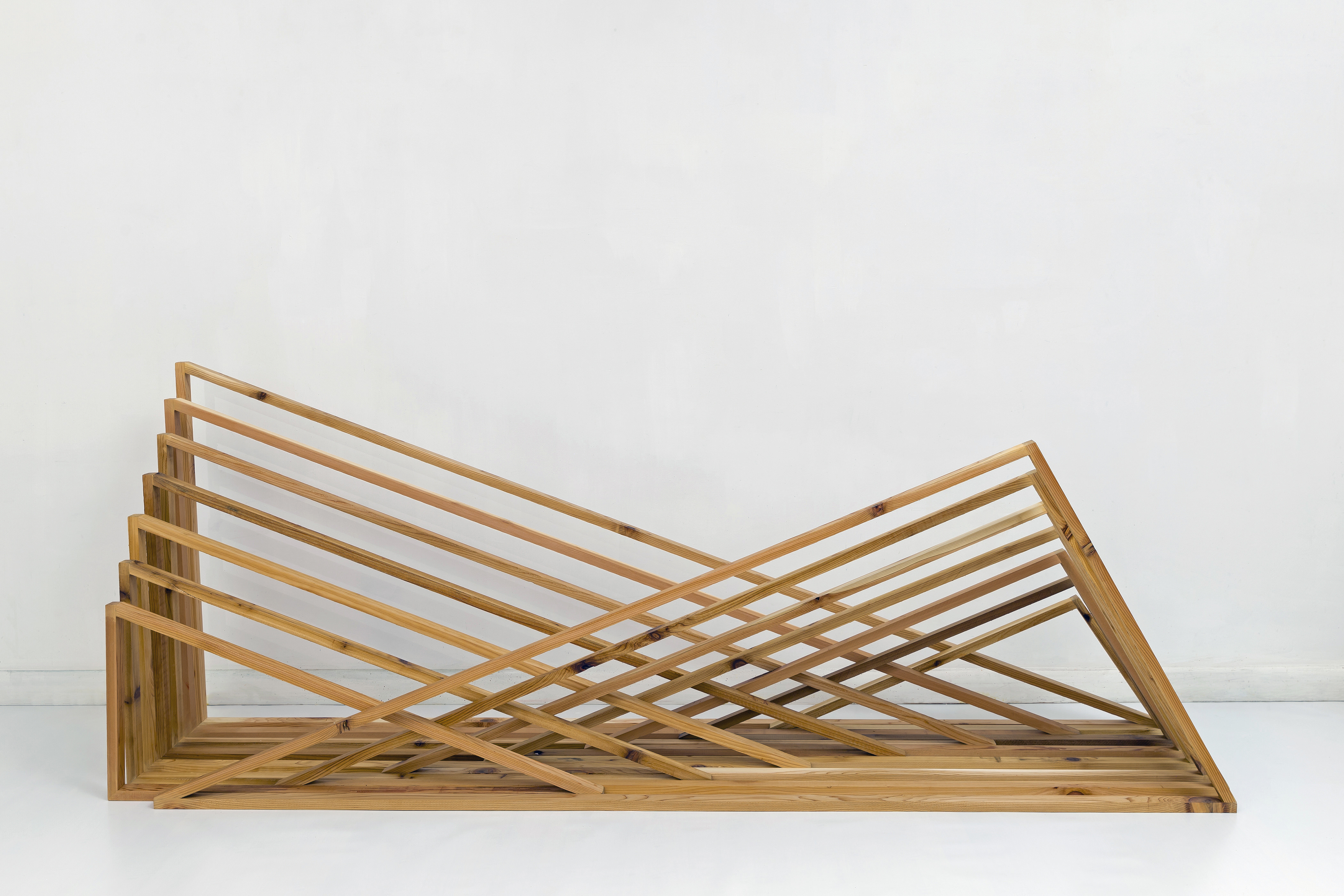 Rebecca Ward, soulmates, 2015, cedar and hardware, 87 x 33.5 x 21 in