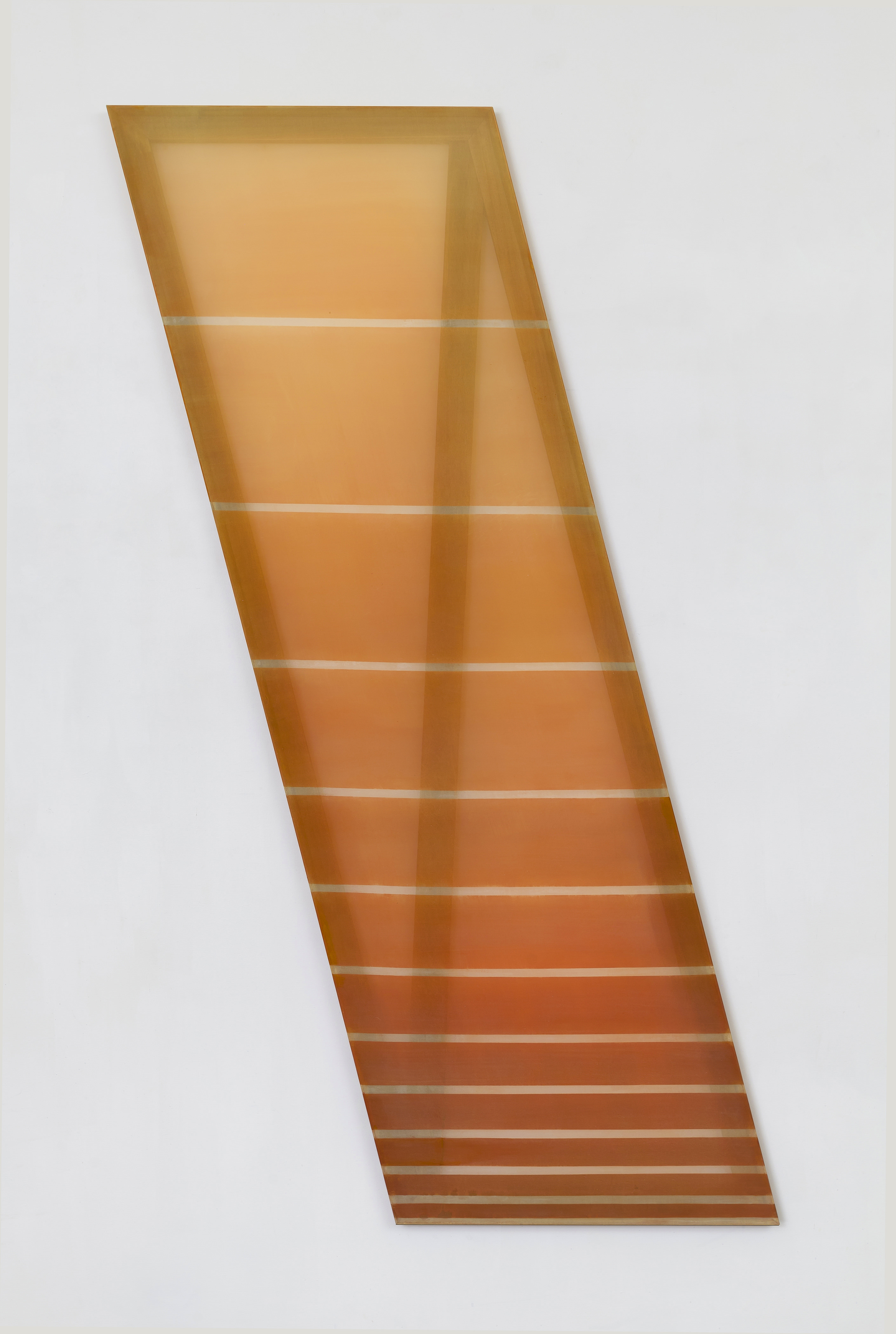 Rebecca Ward,  (sunrise), 2015, dye on silk, 78 x 26 in