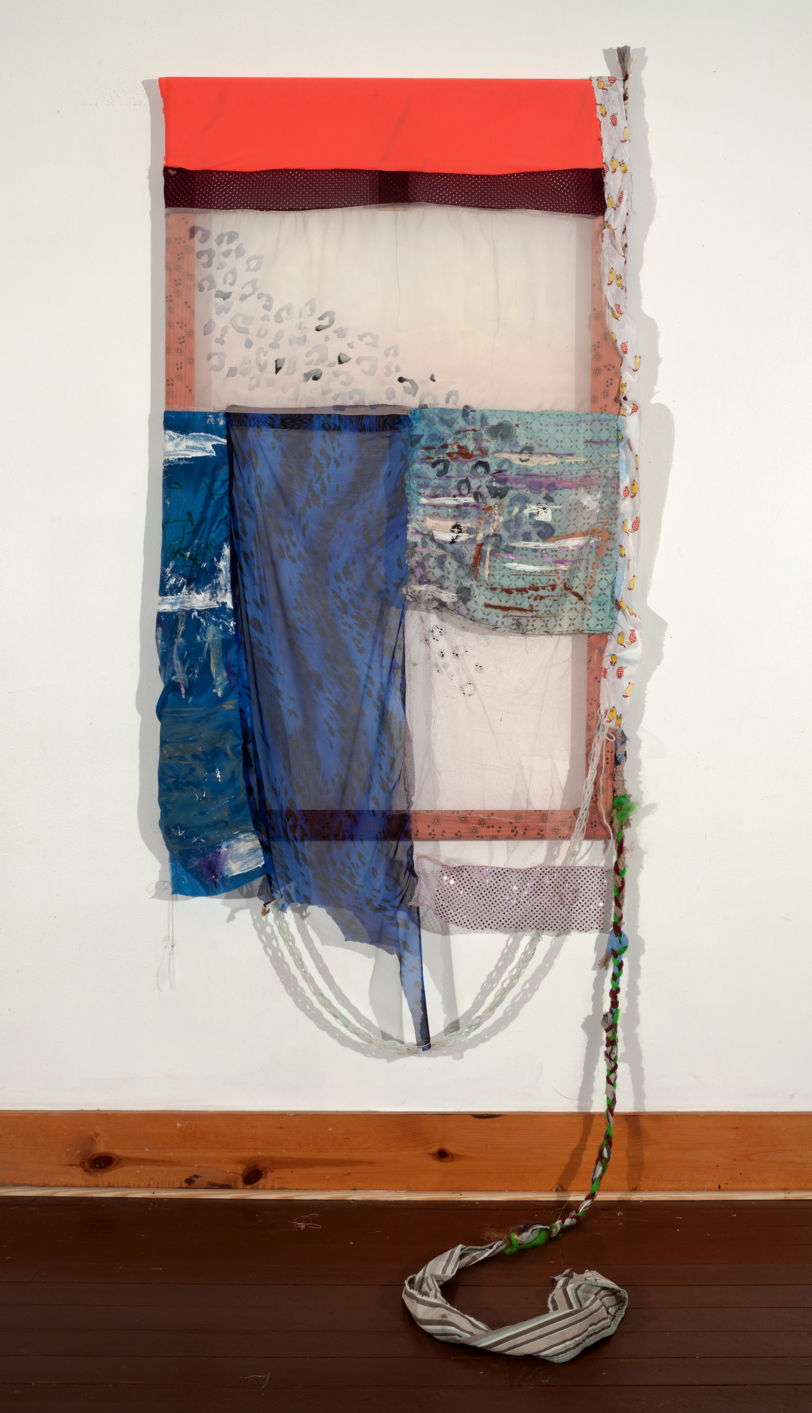 Tameka Jenean Norris, Desire, 2014, oil paint, and acrylic paint on fabric, 50 x 30 in
