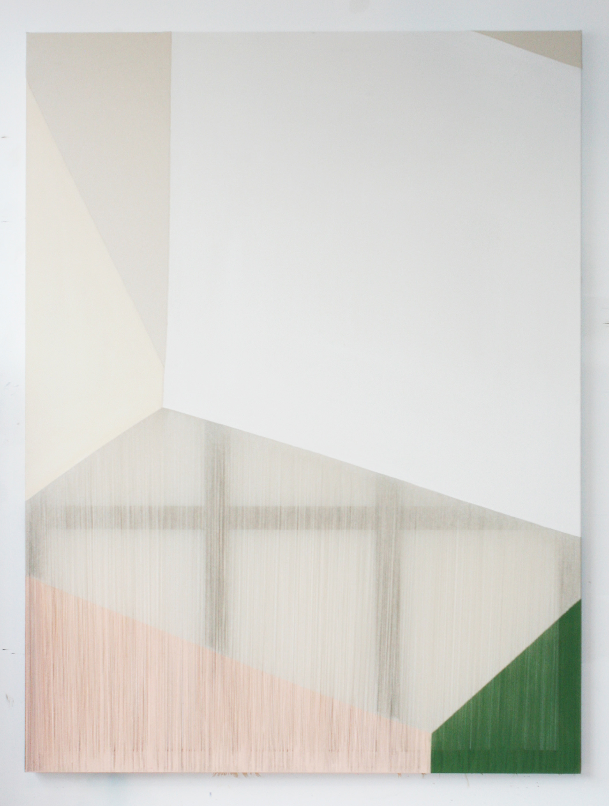 Rebecca Ward, epicene, 2014, acrylic on stitched canvas, 80 x 60 in