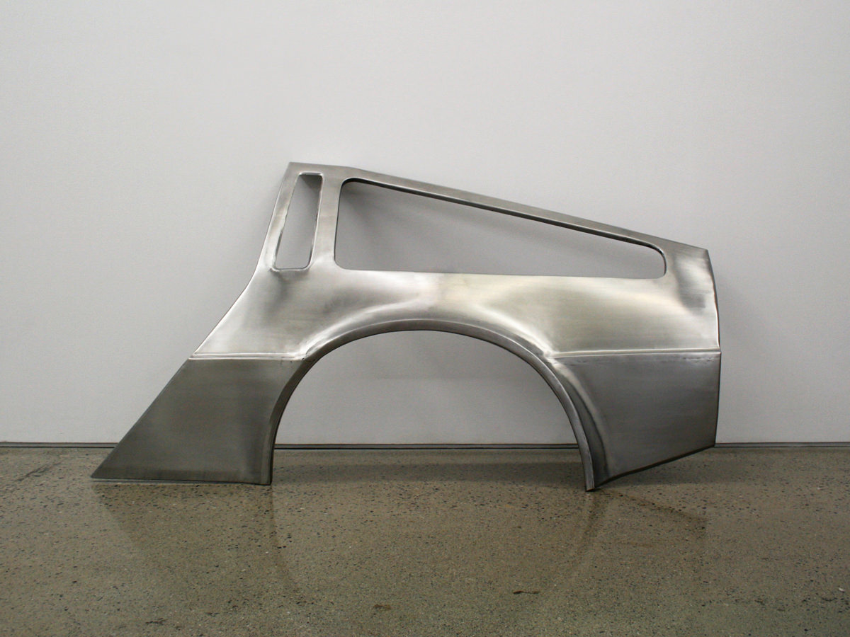Sean Lynch, DeLorean Progress Report, 2009-11, courtesy the artist and Ronchini Gallery`