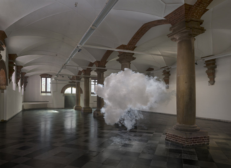 Berndnaut Smilde  Nimbus de Hallen, 2014  digital c-type print mounted on aluminium with subframe 75 x 103 cm 125 x 172 cm