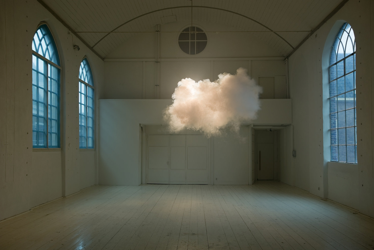 Berndnaut Smilde, Nimbus II, 2012, cloud in room, lambda print on dibond