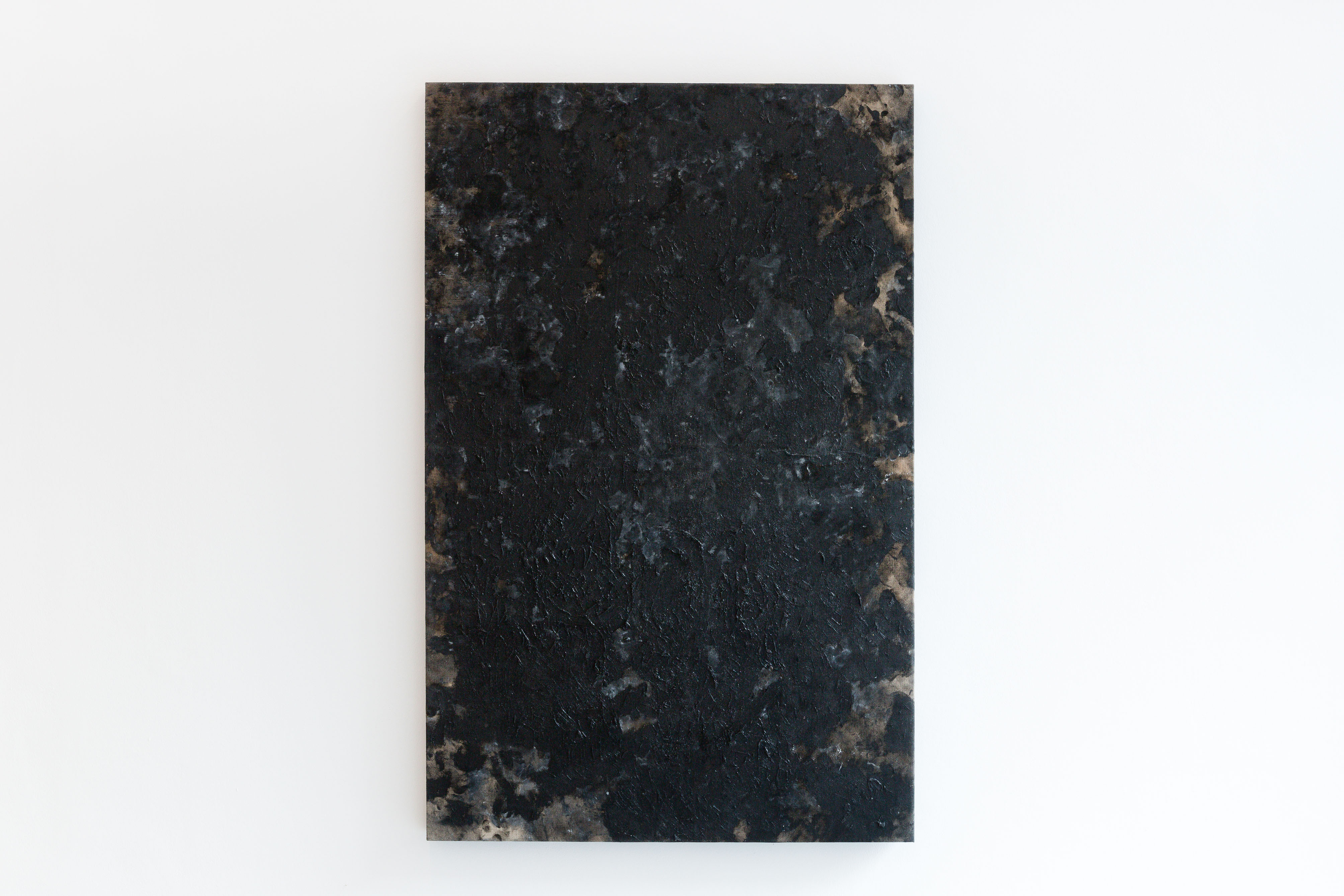 Phoebe Collings-James, Ivory Black [#5], 2014, oil on linen, 133 x 85 cm