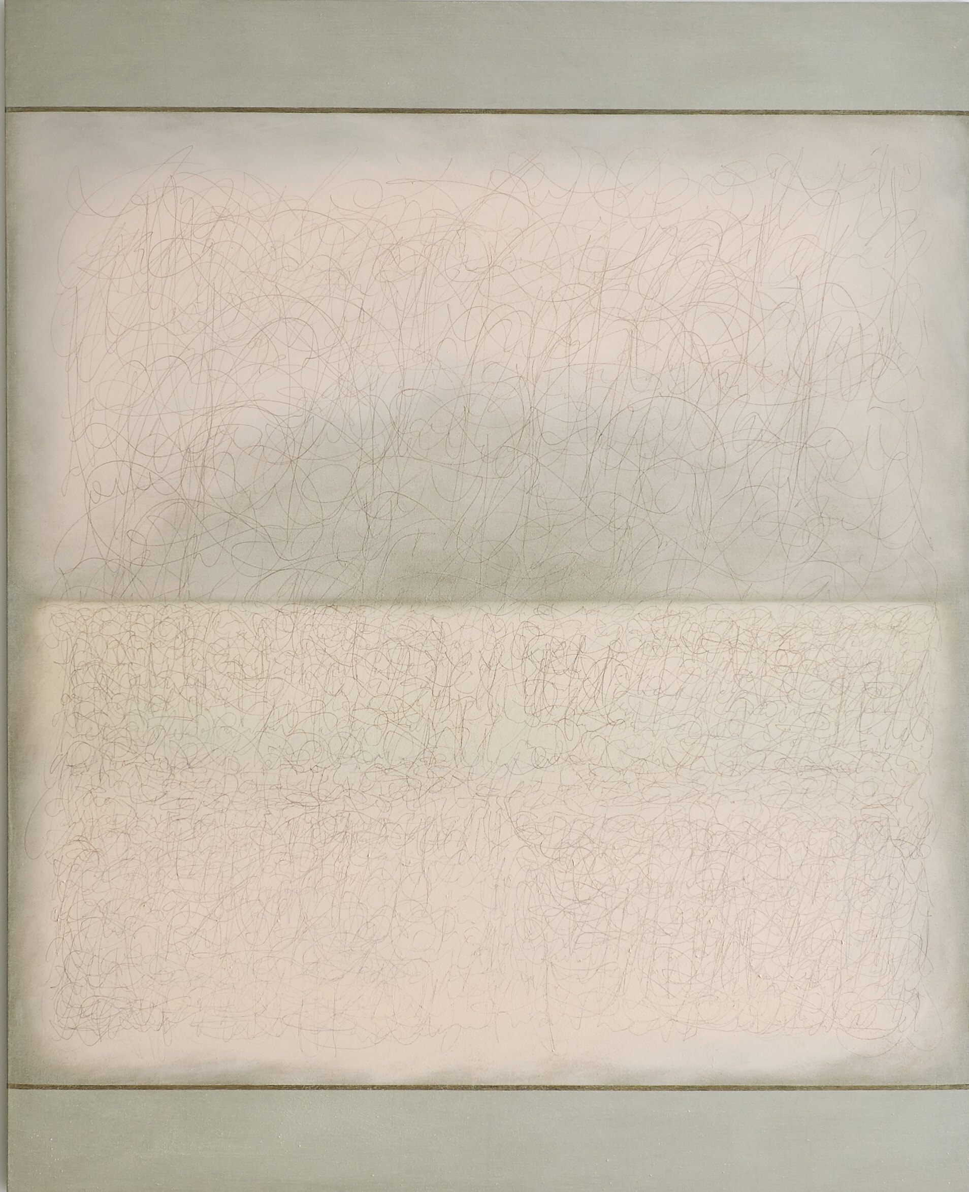 Richard Höglund, Sea Picture LVII (Rosy Fingers IV), 2016, silver, tin, lead and oil on linen prepared with bone pulver and marble dust, 226 x 183 cm