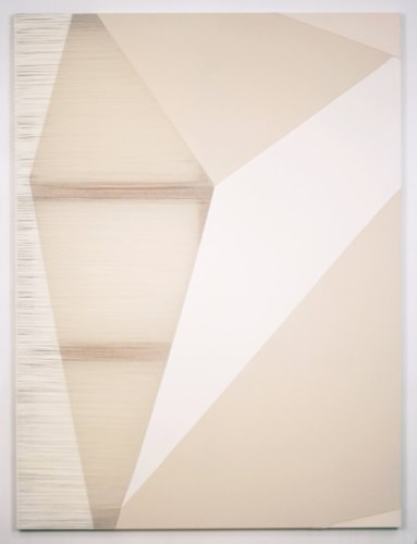 Rebecca Ward, cottonwood, 2015, acrylic on stitched canvas, 72 x 54 in