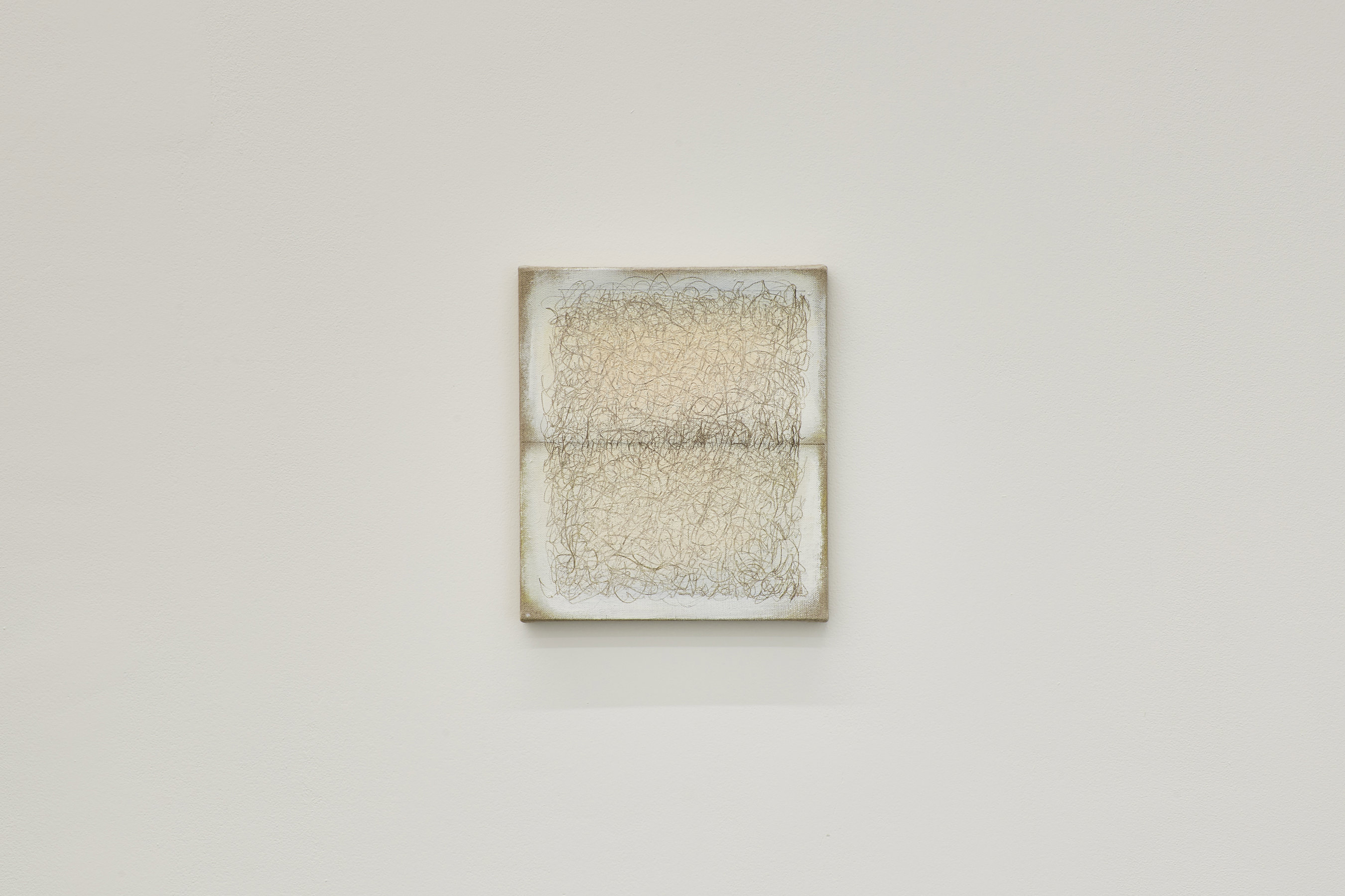 Richard Höglund, Sea Picture LXIII, 2016, silver, tin, lead and oil on linen prepared with bone pulver and marble dust, 30 x 26 cm
