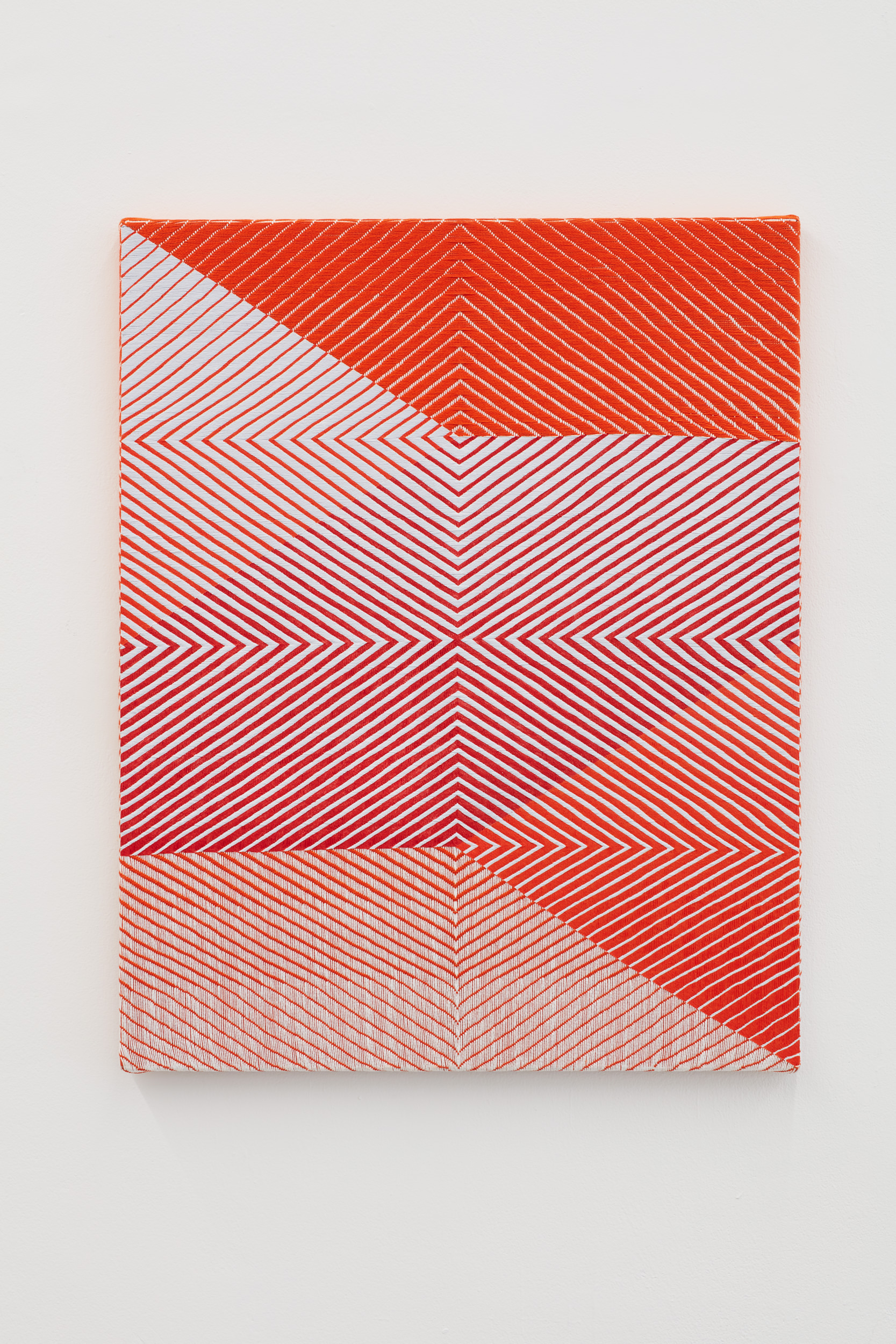 Samantha Bittman, Untitled, 2017, acrylic on hand-woven textile, 30×24 inc, inv. n. 2017-027