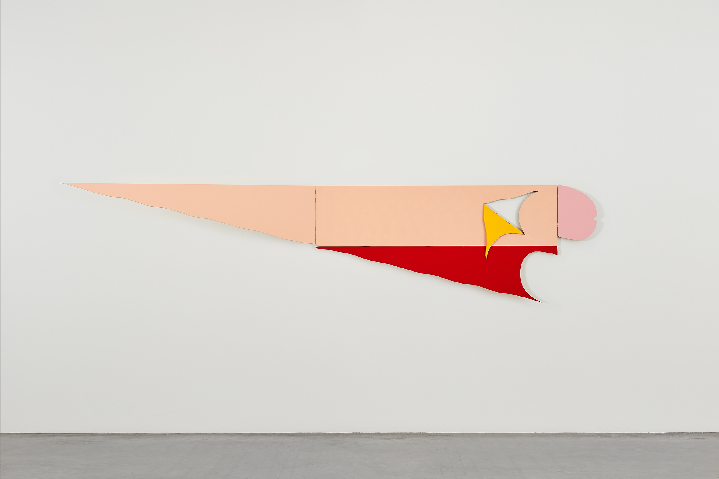 Katsumi Nakai, Untitled, 2011, acrylic on plywood, 45 x 180 cm : 85 x 385 cm v1