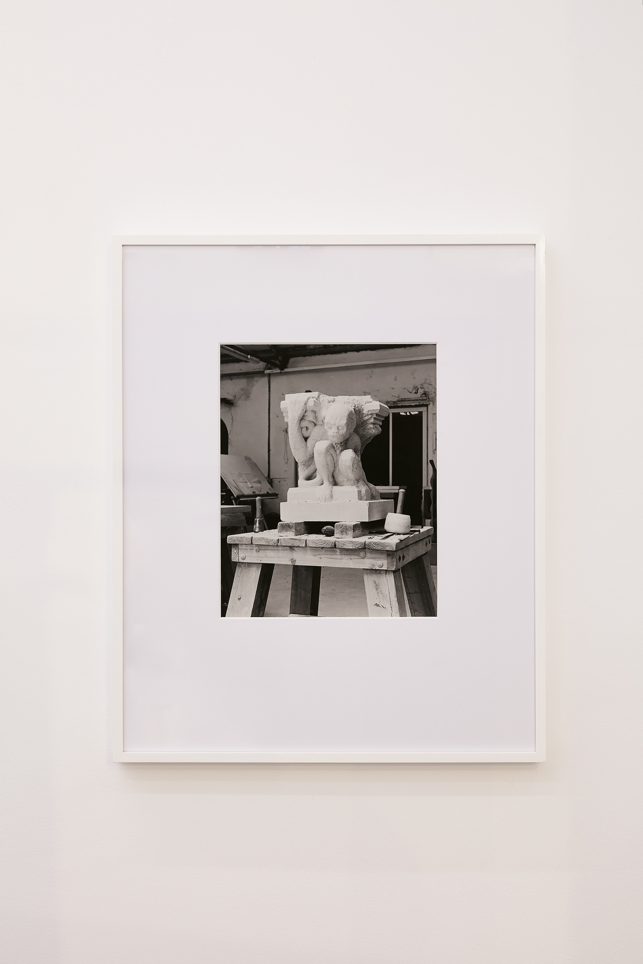 Sean Lynch, A Blow by Blow Account of Stonecarving in Oxford, 2013, black and white fibre print, framed, 67×55 cm framed 6