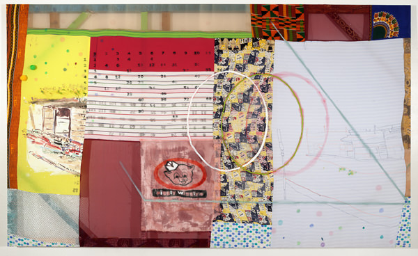 Tameka Jenean Norris, 12 Times Table, 2014, oil paint, and acrylic paint on fabric, 152 x 254 cm