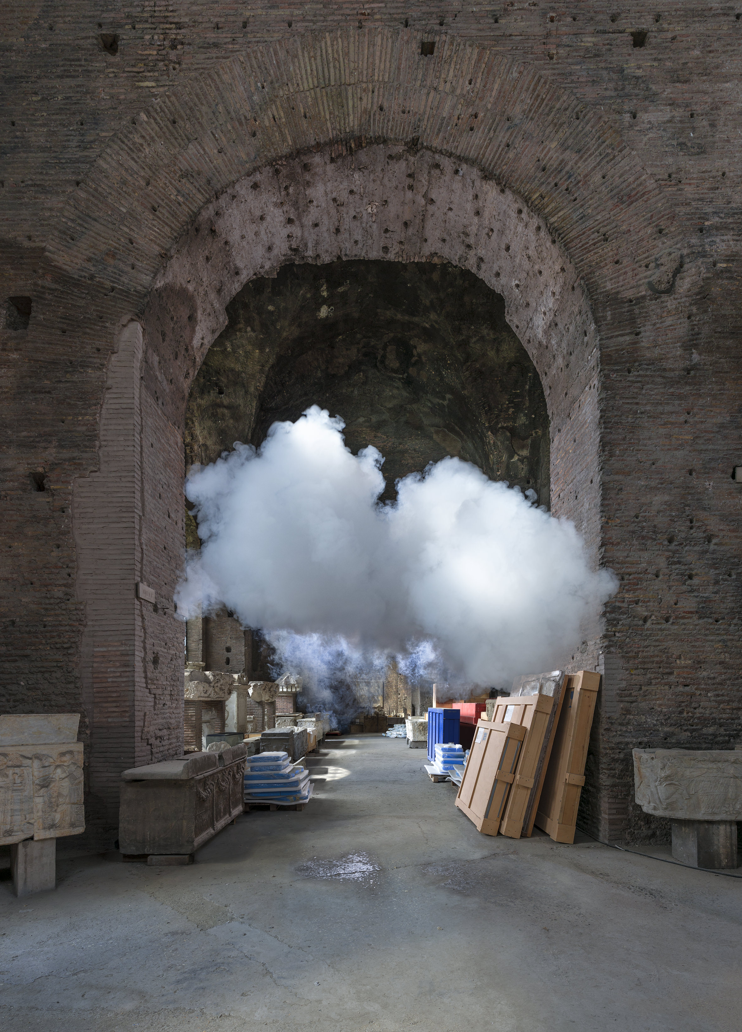 Berndnaut Smilde, Nimbus Diocleziano Aula I, 2018, digital C-type print mounted on aluminium with subframe, 75 x 104 : 125 x 174 cm, Ed. of 6 + 2 AP
