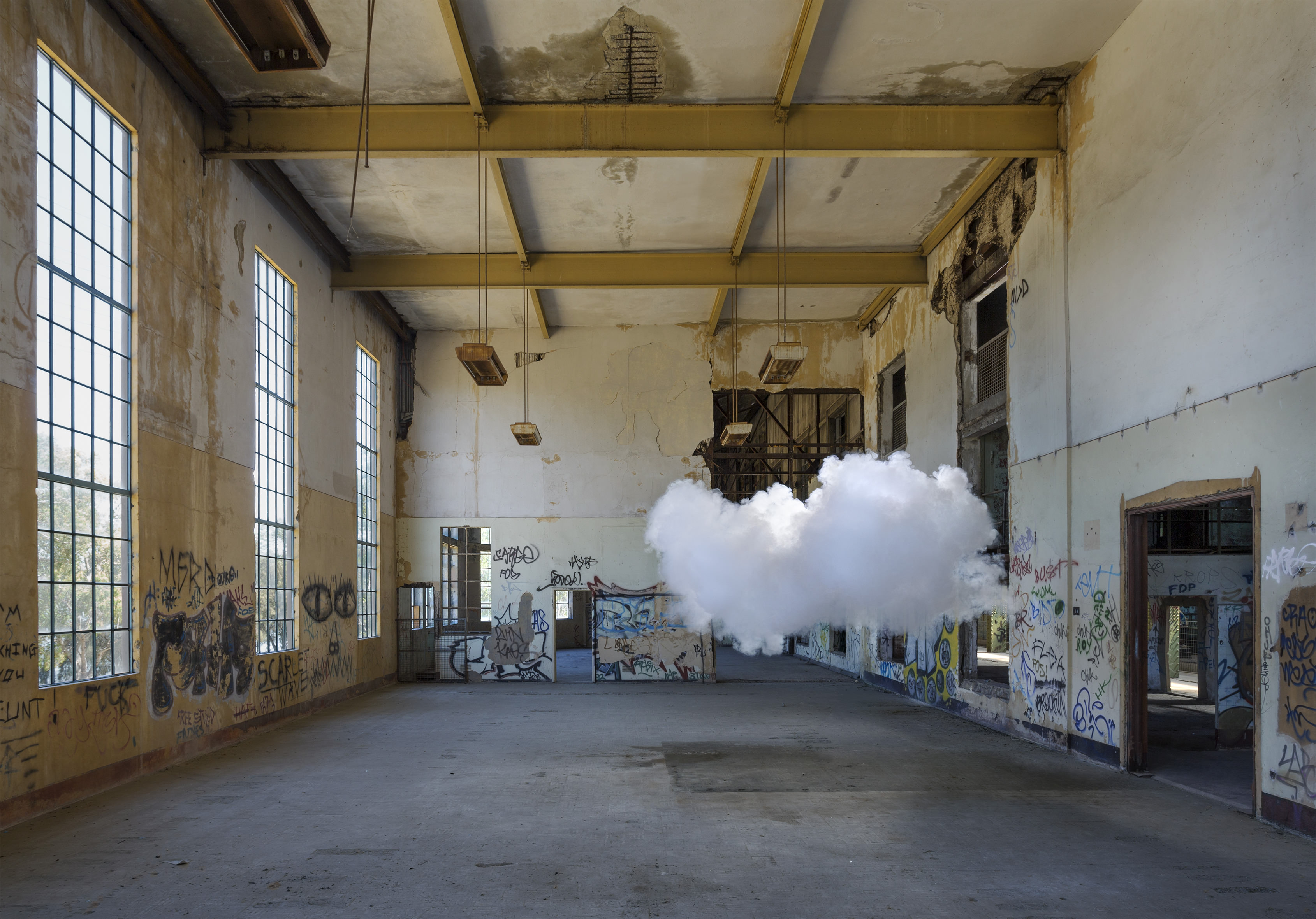 Berndnaut Smilde, Nimbus Powerstation, 2017, digital c-type print mounted on aluminium, framed, 125 x 179 cm