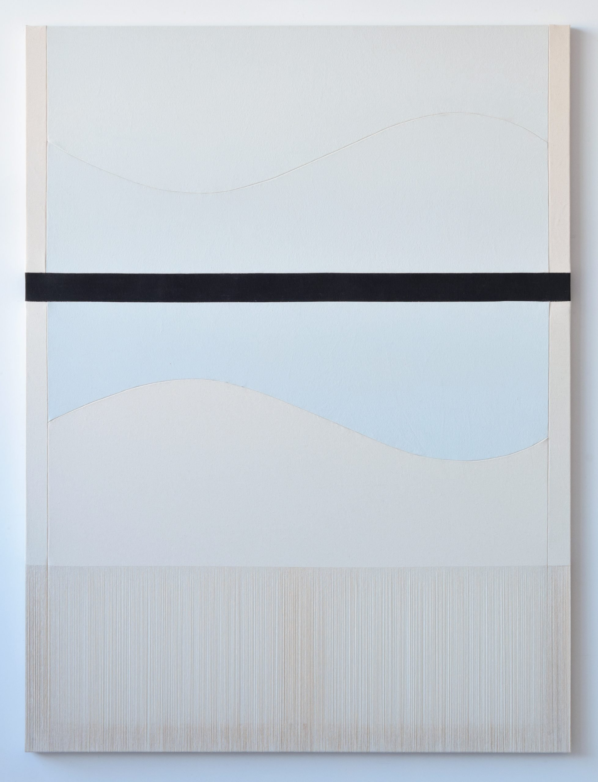 Rebecca Ward, sideways, 2019, acrylic on stitched canvas, 64 x 48 in, 162.6 x 121.9 cm, (RWa302536)