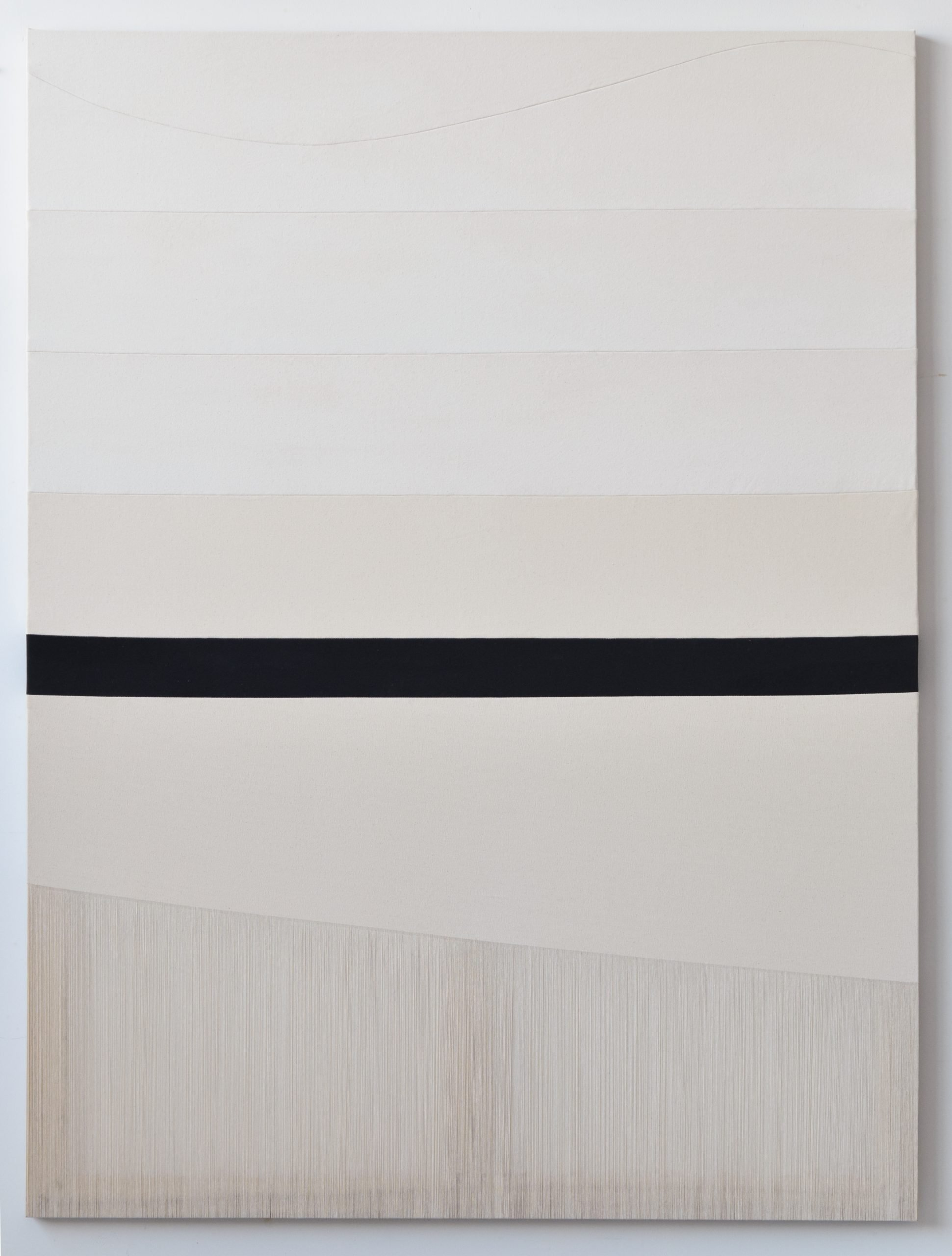 Rebecca Ward, the hum, 2019, acrylic on stitched canvas, 64 x 48 in, 162.6 x 121.9 cm, RWa302535