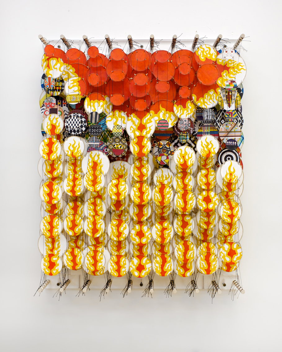 Jacob Hashimoto, The Father of All Dragonslayers, 2012, bamboo, paper, dacron, acrylic, 92 x 72 x 20 cm