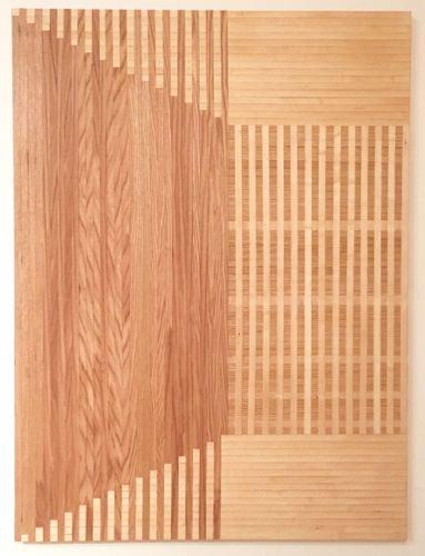 Rebecca Ward, denouement, 2015, red oak and birch veneer