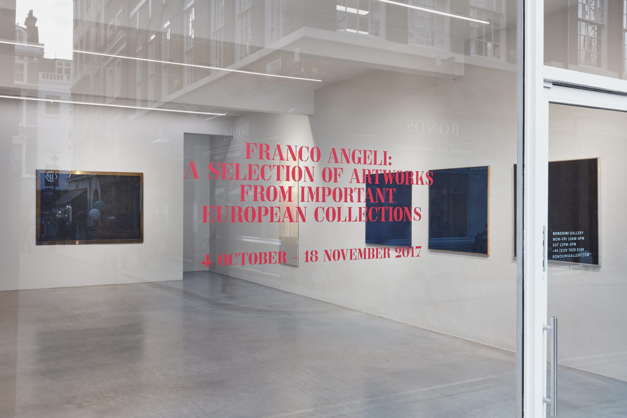 Franco Angeli, A Selection of Artworks from Important European Collections, Installation View 2
