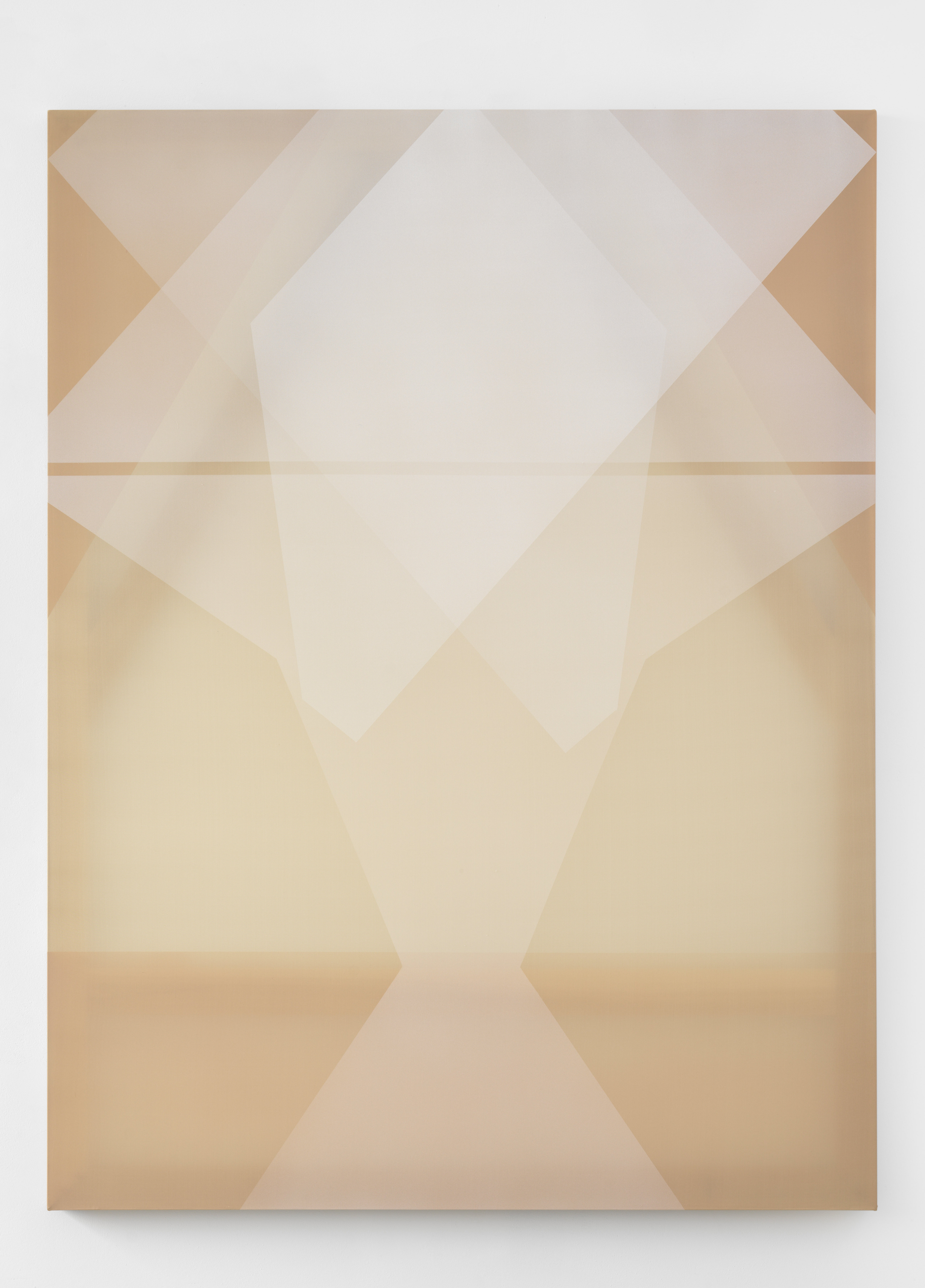 Rebecca Ward, white morph, 2018, acrylic on silk, 60 x 45 in