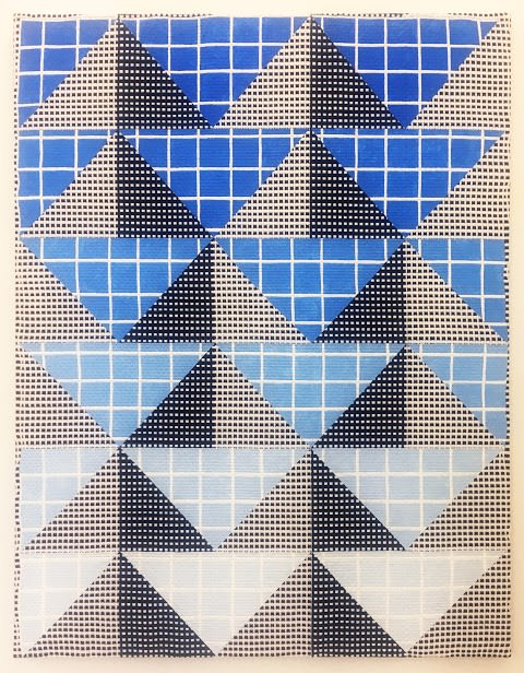 Samantha Bittman, Untitled, 2019, acrylic on handwoven textile, 121.9 x 91.4 cm, SBi302509