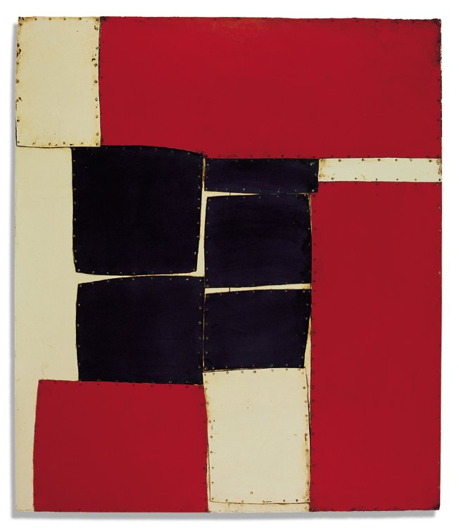 Conrad Marca-Relli, Cunard L-8-62,1962, collage and mixed media on wood,189.5 x 162.5cm,74 5:8 x 64 in(CMR300535)
